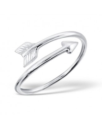 "Stříbrný prsten ""Amorův šíp lásky"". Ag 925/1000"